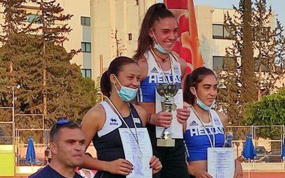 Θρίαμβος για την Χριστίνα Ευκολίδου με τα χρώματα της Εθνικής Ελλάδας – Χρυσό μετάλλιο στην Κύπρο