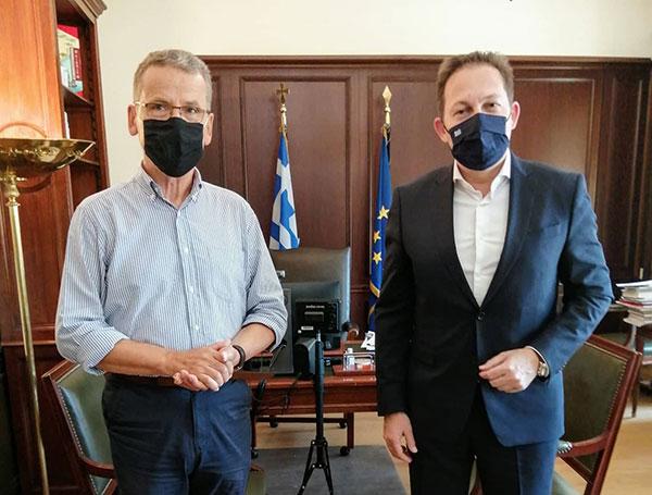 Συνάντηση του δημάρχου Κοζάνης Λάζαρου Μαλούτα με τον αν. Υπουργό Εσωτερικών Στέλιο Πέτσα στην Αθήνα