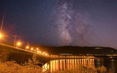 Φωτογραφία ημέρας: Γέφυρα λίμνης Πολυφύτου – Γαλαξίας