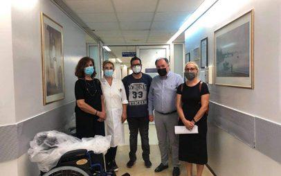 Ευχαριστήριο του Γενικού Νοσοκομείου Πτολεμαΐδας «Μποδοσάκειο» για την προσφορά τριών αναπηρικών αμαξιδίων