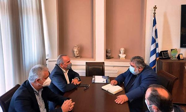 Συνάντηση του Δημάρχου Εορδαίας με τον Αναπληρωτή Υπουργό Ανάπτυξης και Επενδύσεων, αρμόδιο για τις Ιδιωτικές Επενδύσεις και τις ΣΔΙΤ Νίκο Παπαθανάση