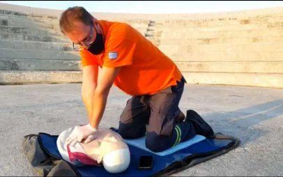 Η Εθελοντική Διασωστική Ομάδα Πτολεμαΐδας διοργάνωσε μία επίδειξη πρώτων βοηθειών