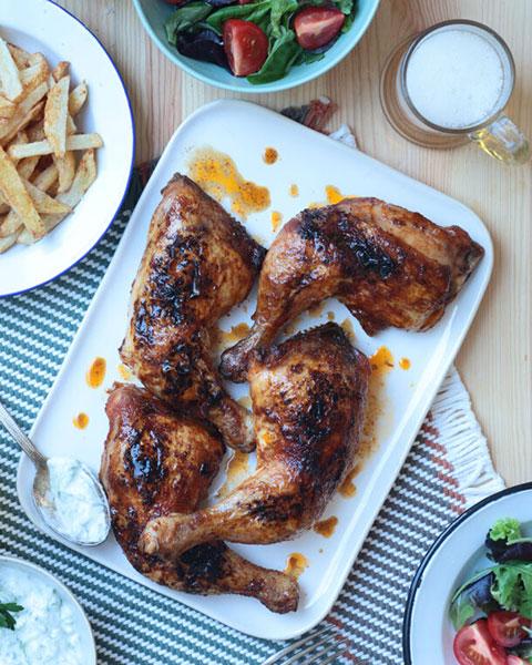 Κοτόπουλο με σάλτσα μπάρμπεκιου
