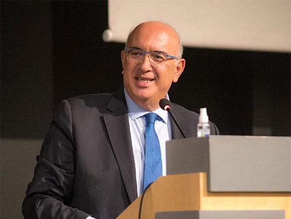 Χαιρετισμός του Υφυπουργού Υποδομών και Μεταφορών M. Παπαδόπουλου κατά την υποδοχή της αμαξοστοιχίας «Connecting Europe Express»