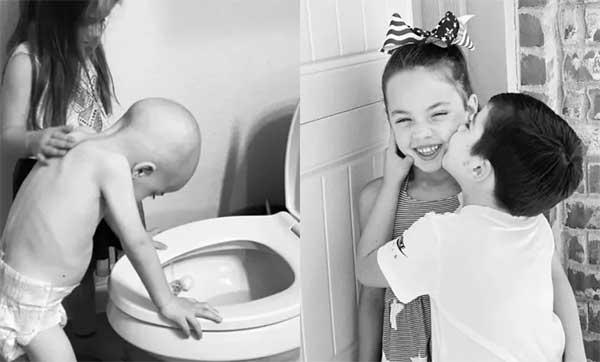 Το αγόρι της φωτογραφίας που έδινε μάχη με τη λευχαιμία, βγήκε νικητής