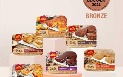 """Βραβείο Bronze στα Super Market Awards 2021 για τα γλυκά της """"Alfa"""""""