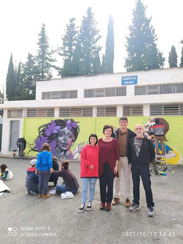 """""""Η τέχνη βλέπει την ψυχική υγεία αλλιώς""""-Ένα graffiti ομόρφυνε το Δ.Α.Κ."""