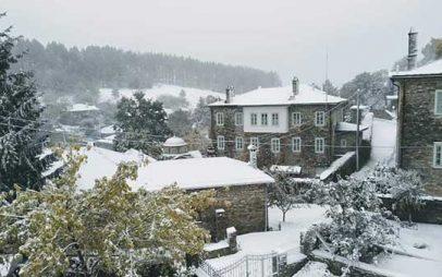 Tα πρώτα χιόνια και στο Νυμφαίο Φλώρινας!!!