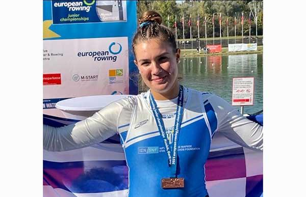 Χάλκινο μετάλλιο για την Μακρυγιάννη Λεμονιά στο Ευρωπαϊκό Πρωτάθλημα Κωπηλασίας Εφήβων-Νεανίδων