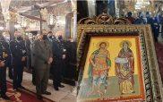 Η δοξολογία στον Άγιο Νικόλαο Κοζάνης για την εορτή του Αγίου Αρτεμίου,προστάτη της Αστυνομίας